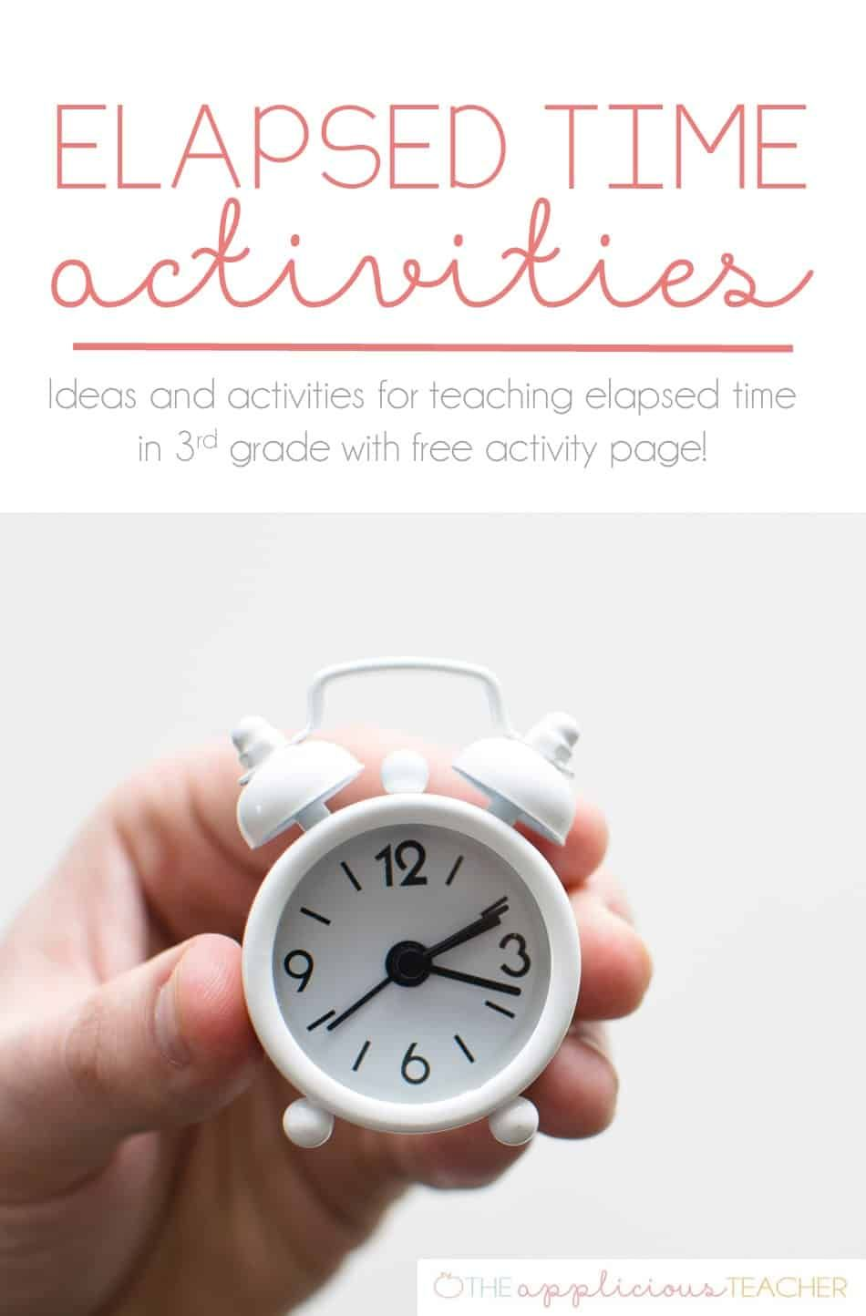 Elapsed Time Activities And A Free Download Elapsed Time Activities Elapsed Time Time Activities