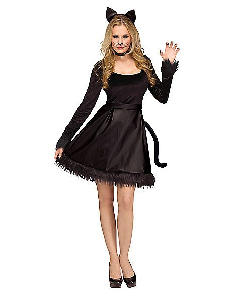 Adult Black Cat Costume - Spirithalloween.com  a929c0ddf