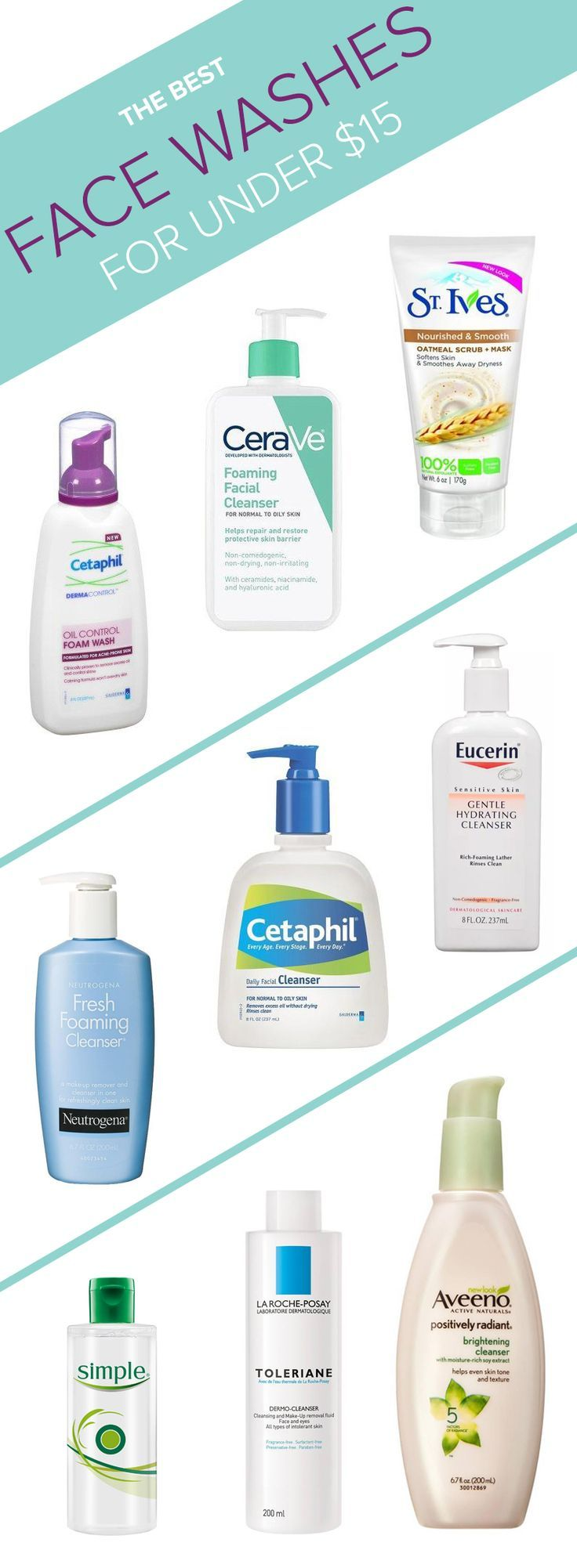15 Expert Approved Drugstore Face Washes For Every Skin Type Drugstore Face Wash Best Face Products Sensitive Skin Care