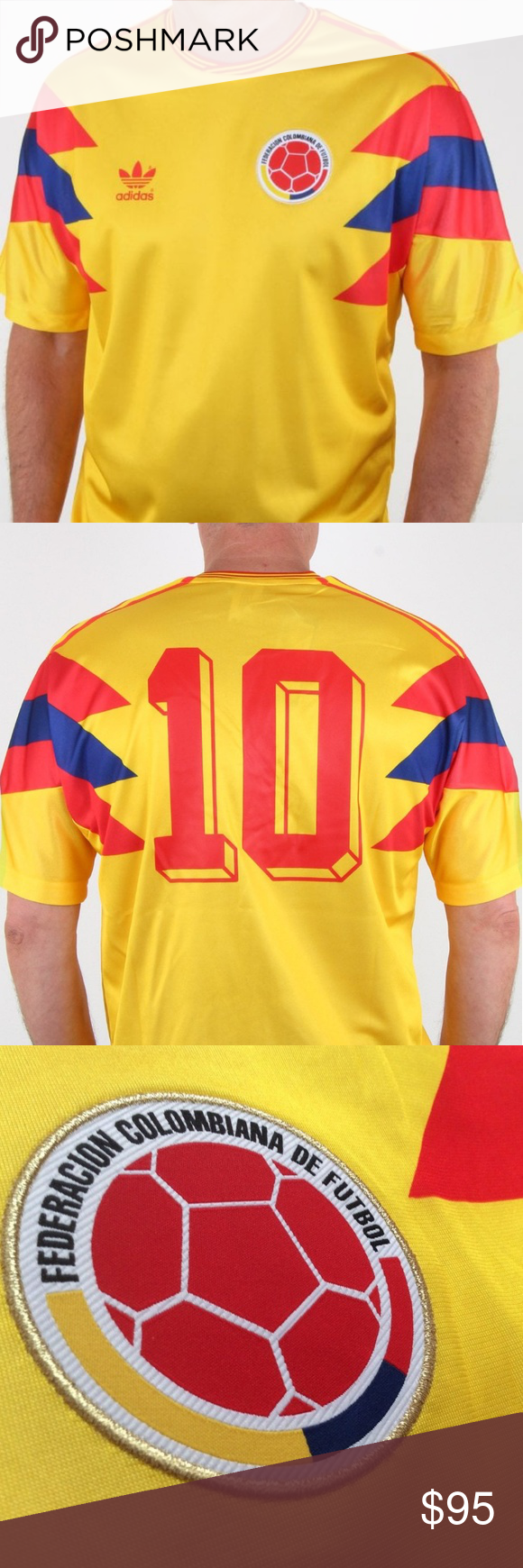 Adidas Colombia 1990 Jersey  10 Carlos Valderrama Brand New With Tags Adidas  Colombia 1990 World 4fad95c90