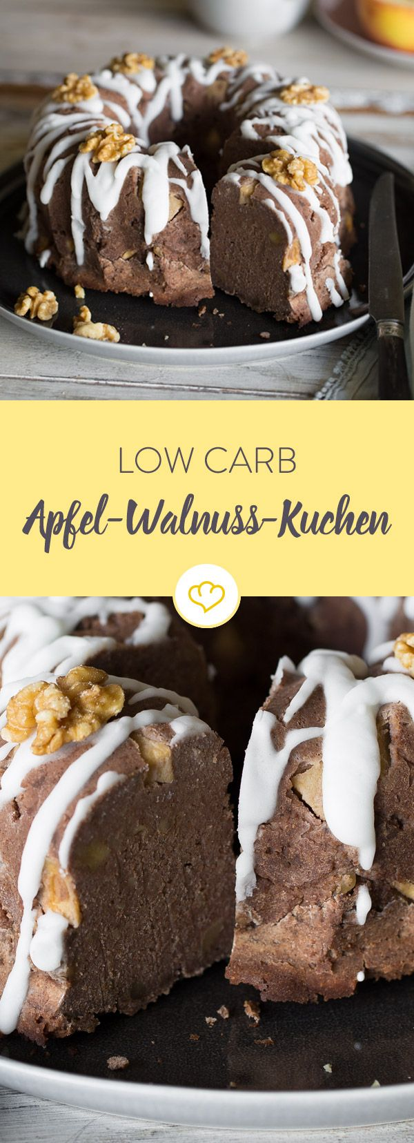 Photo of Low-carb apple and walnut cake