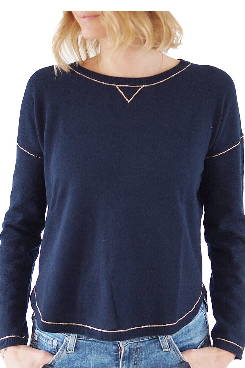 Navy/Silver Cashmere Sweater | CASHMERE | Pinterest | Cashmere ...