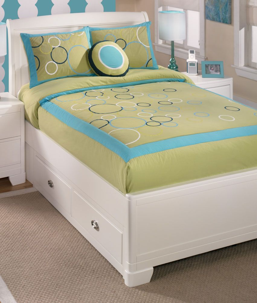 Bubbles Lime 3 Piece Twin Bedding Set from Signature Design by Ashley Furniture