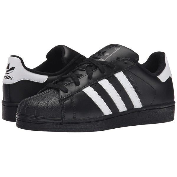 best service 8b979 6797b adidas Originals Superstar 2 (BlackWhiteBlack) Classic Shoes (80) ❤  liked on Polyvore featuring shoes, adidas originals, white black shoes,  kohl shoes, ...