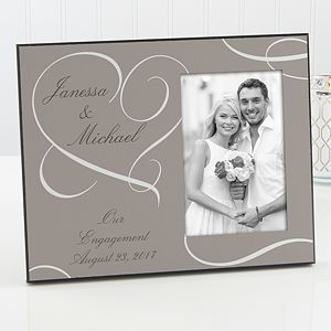 create lasting wedding memories with the our engagement personalized photo frame find the best personalized - Engagement Picture Frame