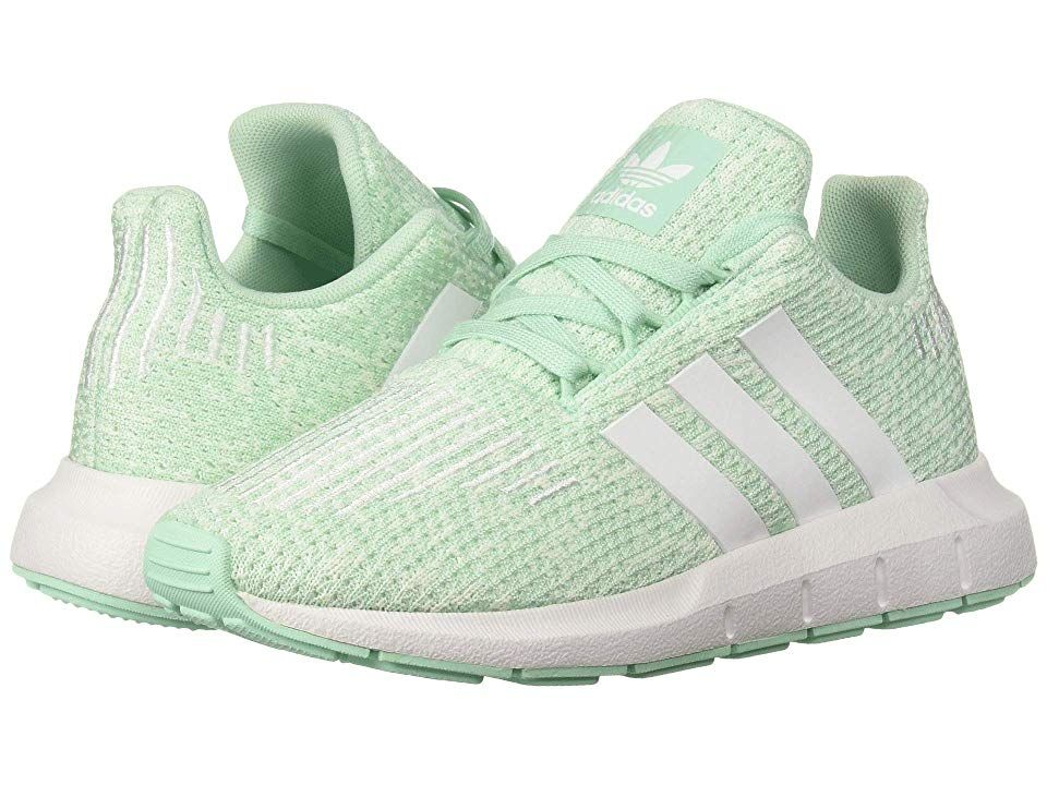 8f1d48aec8157 adidas Originals Kids Swift Run C (Little Kid) Girls Shoes Clear  Mint White Aero Green