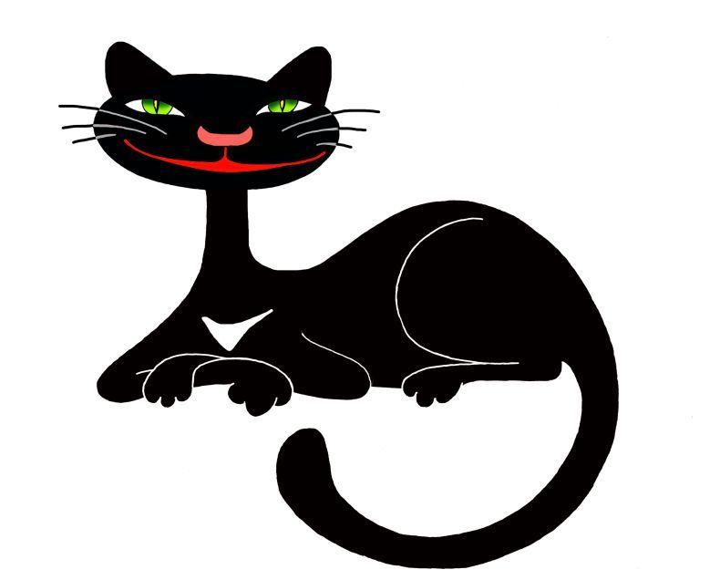 смешные рисованные кошки картинки