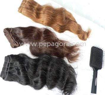 High Quality Hand Wefted Human Hair. Source Hand Wefted Human Hair from Jai International, India on Pepagora.com