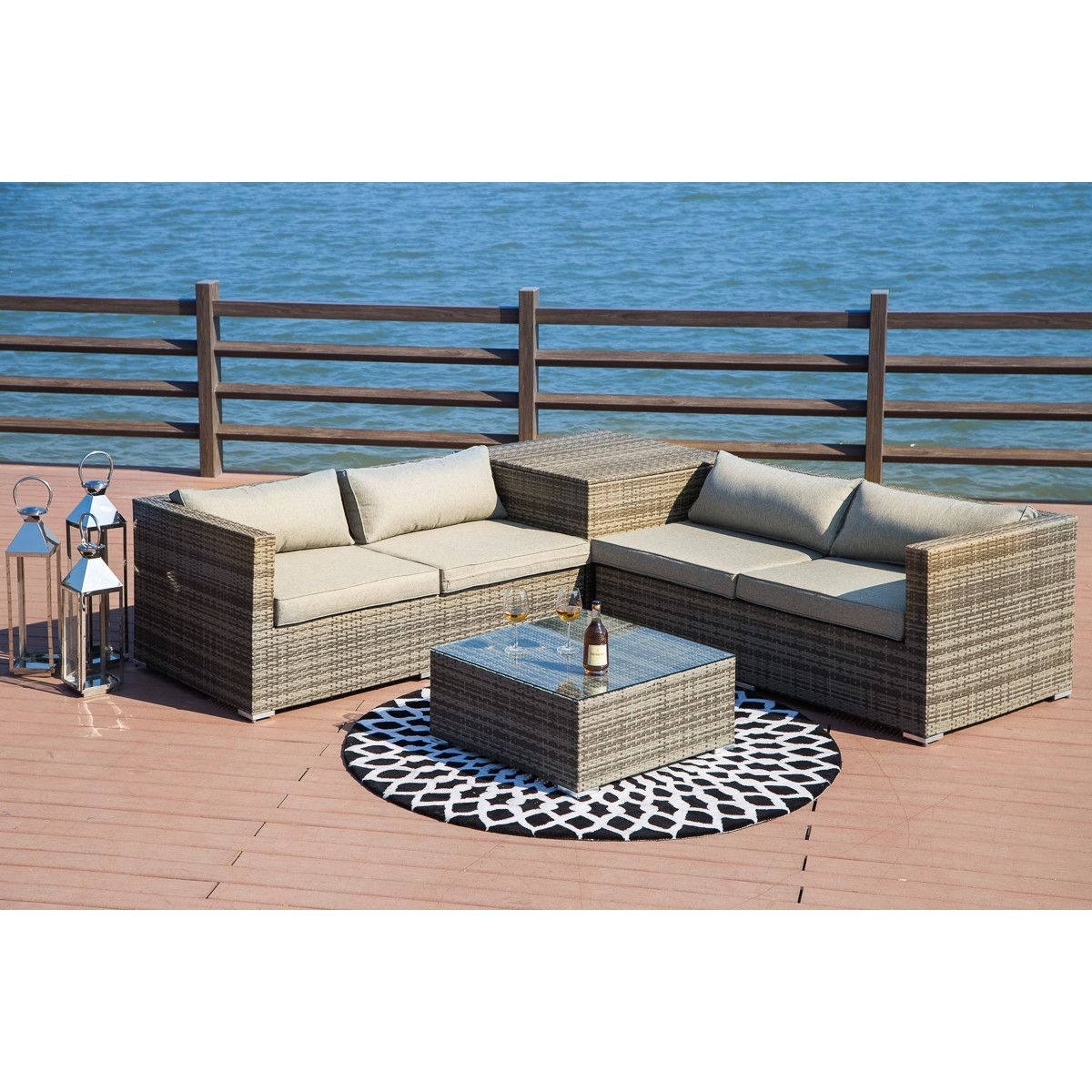Vankirk 4 Piece Sectional Seating Group With Cushions Seating Groups Sofa Set Outdoor Deck Furniture