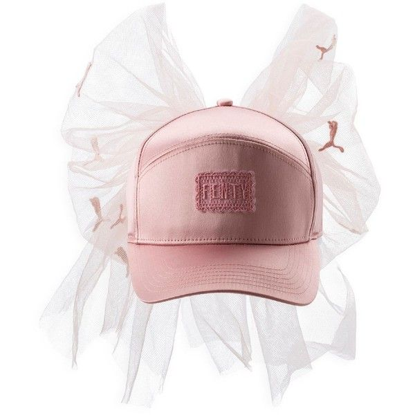 pretty nice 124bf 471b4 Fenty Puma x Rihanna Mesh Bow Cap (725 CNY) ❤ liked on Polyvore featuring  accessories, hats, cap, bow hat, cap hats, puma hats, puma cap and pink hats