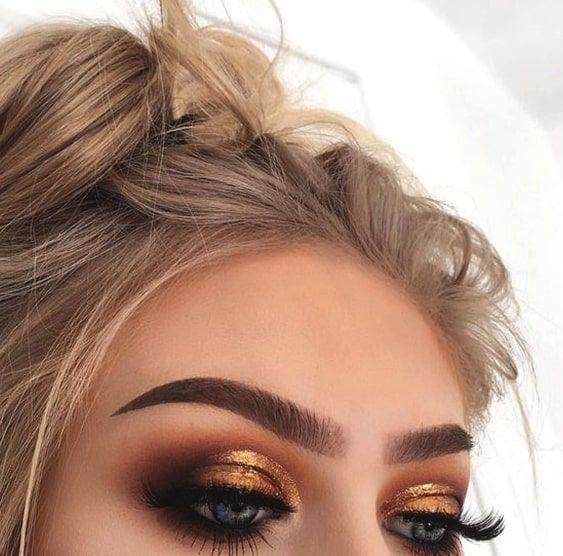 Photo of Gold-Smokey-Eye-Make-up   #GoldSmokeyEyeMakeup #smokeyeyemakeup