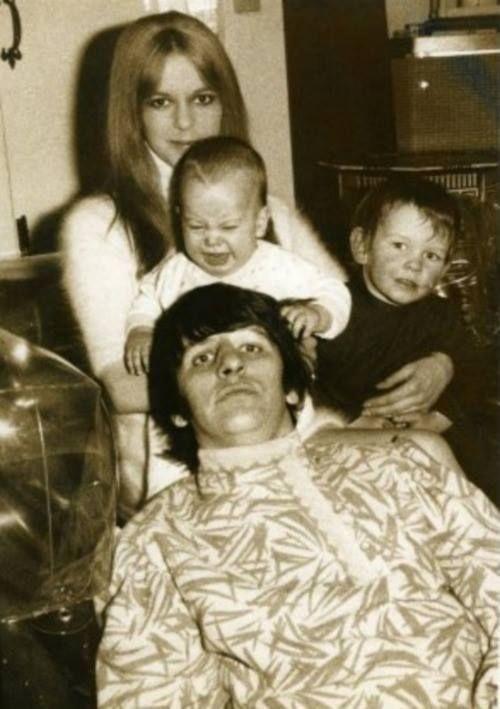 Maureen, Ringo and their children | Beatles girl, The ...