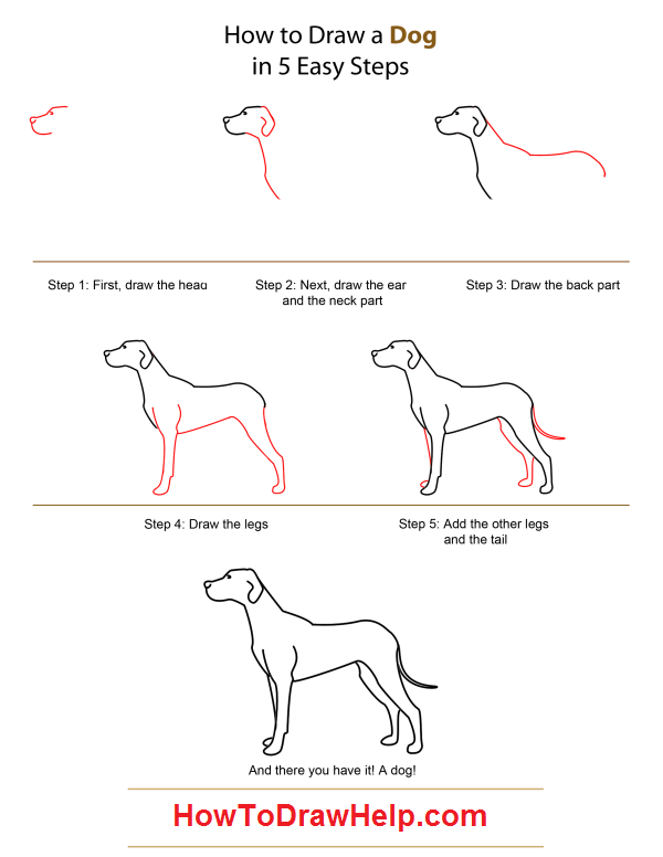 How To Paint An Easy Dog Child S Picture