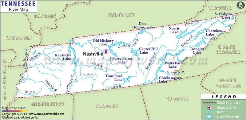 lakes in tennessee map Tennessee River Map Tennessee Map Tennessee River Tennessee lakes in tennessee map