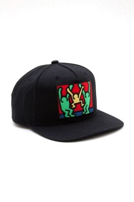 obey - keith haring friends snapback hat (black) ( 20-50) - Svpply ... eddc1117143