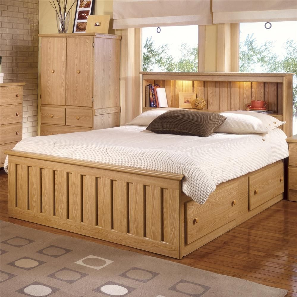 Best Shaker Oak Bookcase Captains Bed With Under Bed Drawer 400 x 300