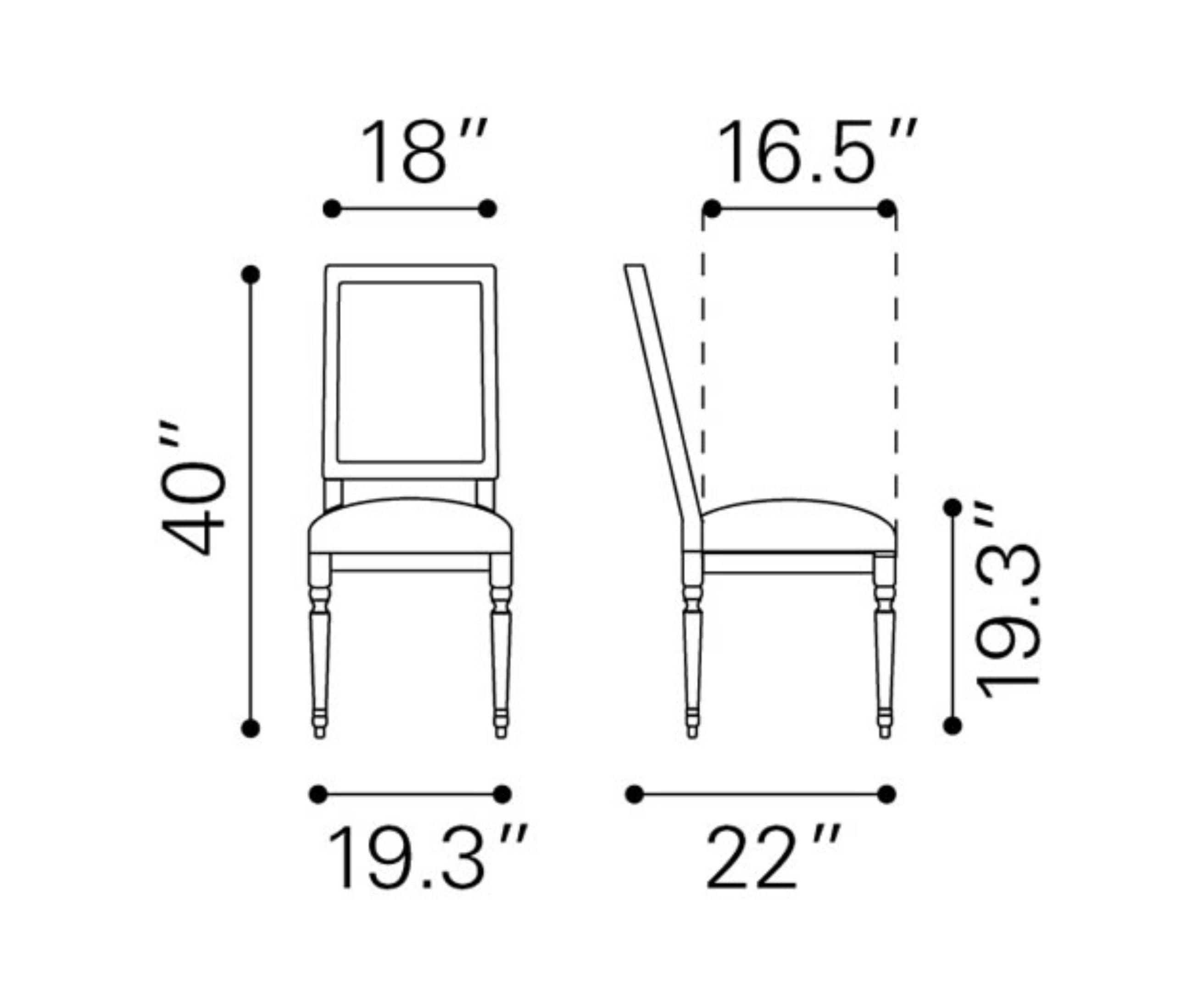 dining chair dimensions | design ideas 2017-2018 ...