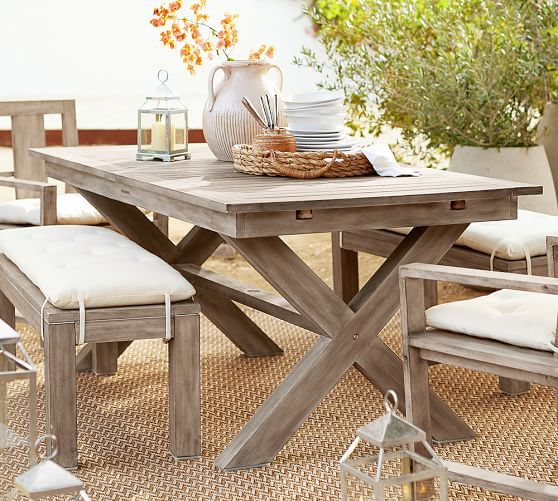 Indio X Base Extending Dining Table Patio Dining Furniture