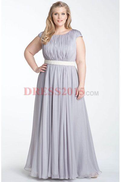 evening dresses plus size A dress that is a light lavender or dove ...