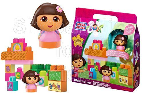 Mega Bloks Talking Dora's School | Code: 00924 | To order: http://www.shopaholic.com.ph/#!/Mega-Bloks-Talking-Doras-School/p/34387930 | Your little Dora fan can build her own classroom and begin to learn a new language with Talking Dora's School by Mega Bloks Dora the Explorer.