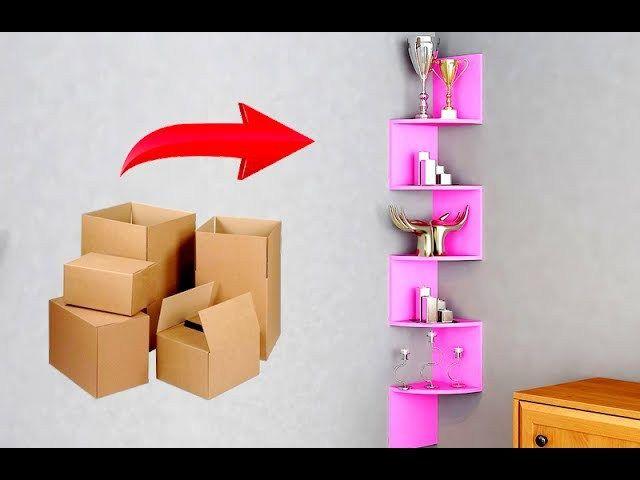 Simple Diy Corner Shelf For Toys Art Craft Ideas Diy