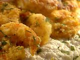 Picture of Artichoke Puree with Crispy Shrimp and Lime Recipe