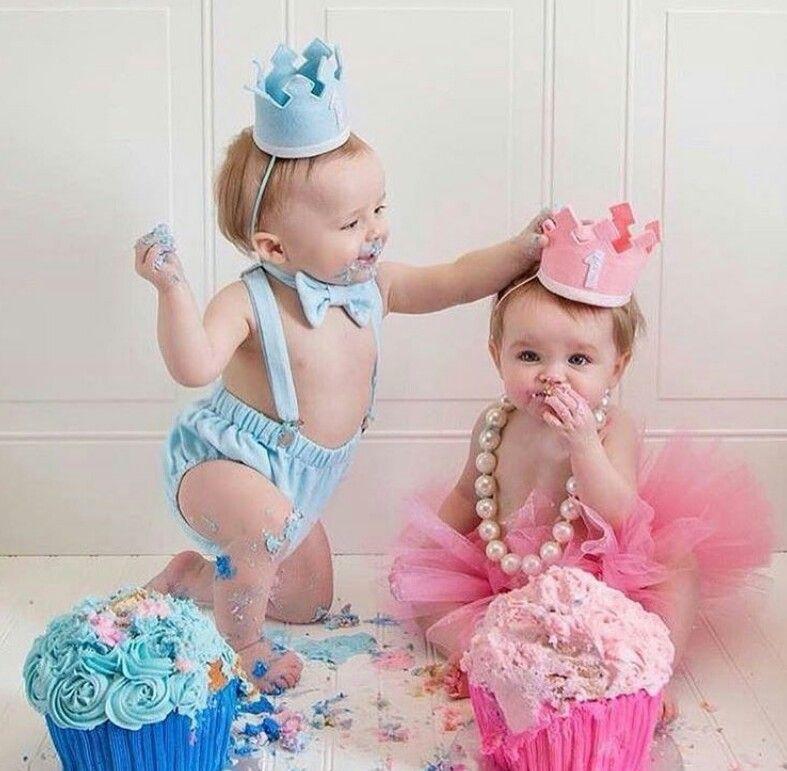Поздравление близнецам один годик