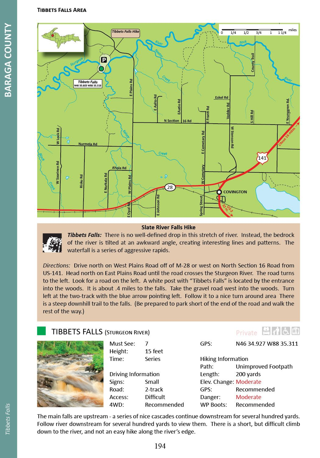 Sample page from Book 3. This page includes an area map
