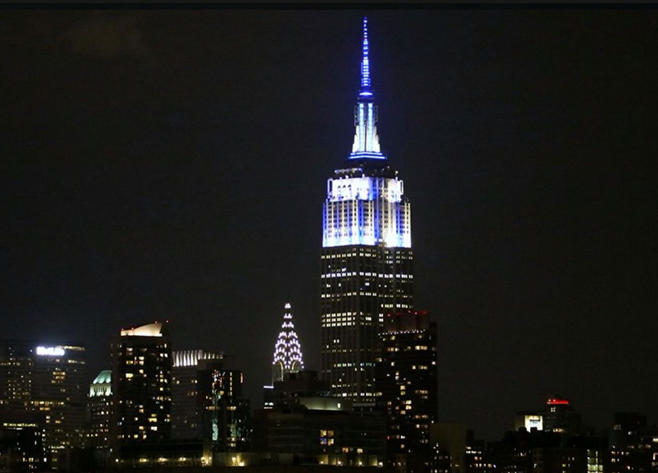 August 3 2016 The Empire State Building Honors The Yankeesbaseball Subway Series Game 3 Victory With Yankees Pinstripes Photo By Arturo P New York