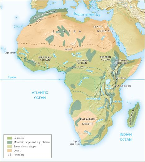 African mountain ranges savannah and deserts mapping our world african mountain ranges savannah and deserts gumiabroncs Gallery
