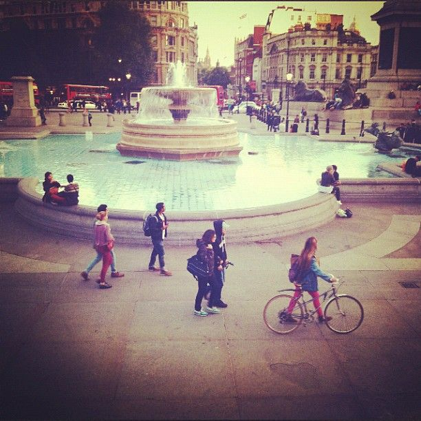 trafalgar square, then the tube home. Lee Appleton