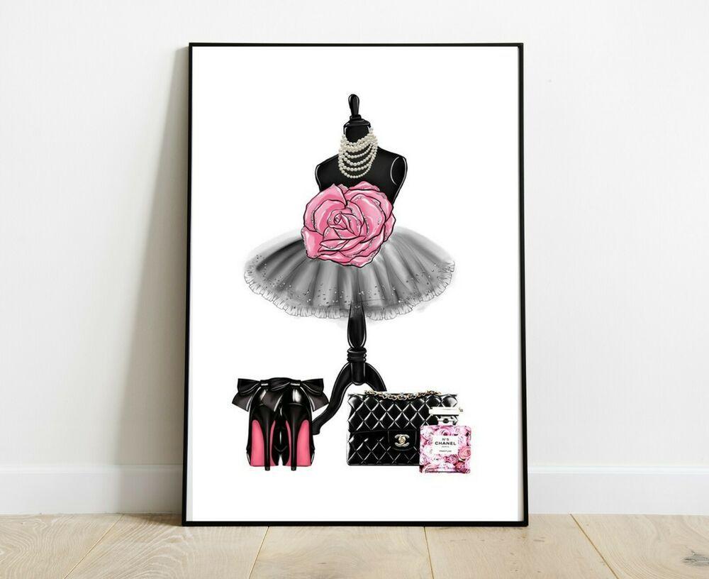 Chanel print fashion art print dressing room prints