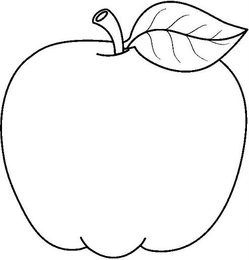 MANZANA | dibujos infantiles | Apple coloring pages, Apple