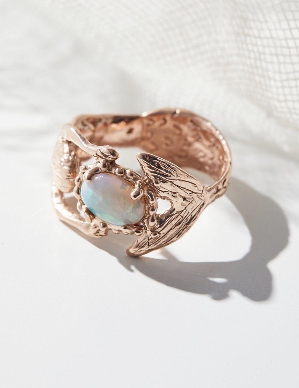14K Rose Gold Mermaid Ring on Free People Mermaid Life