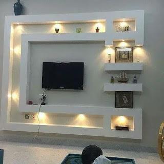 ديكورات شاشات جبس بورد مودرن In 2021 Tv Wall Design House Ceiling Design Ceiling Design Living Room