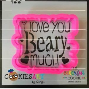 Download I Love You Bear-y Much Stencil and Cookie Cutter ...