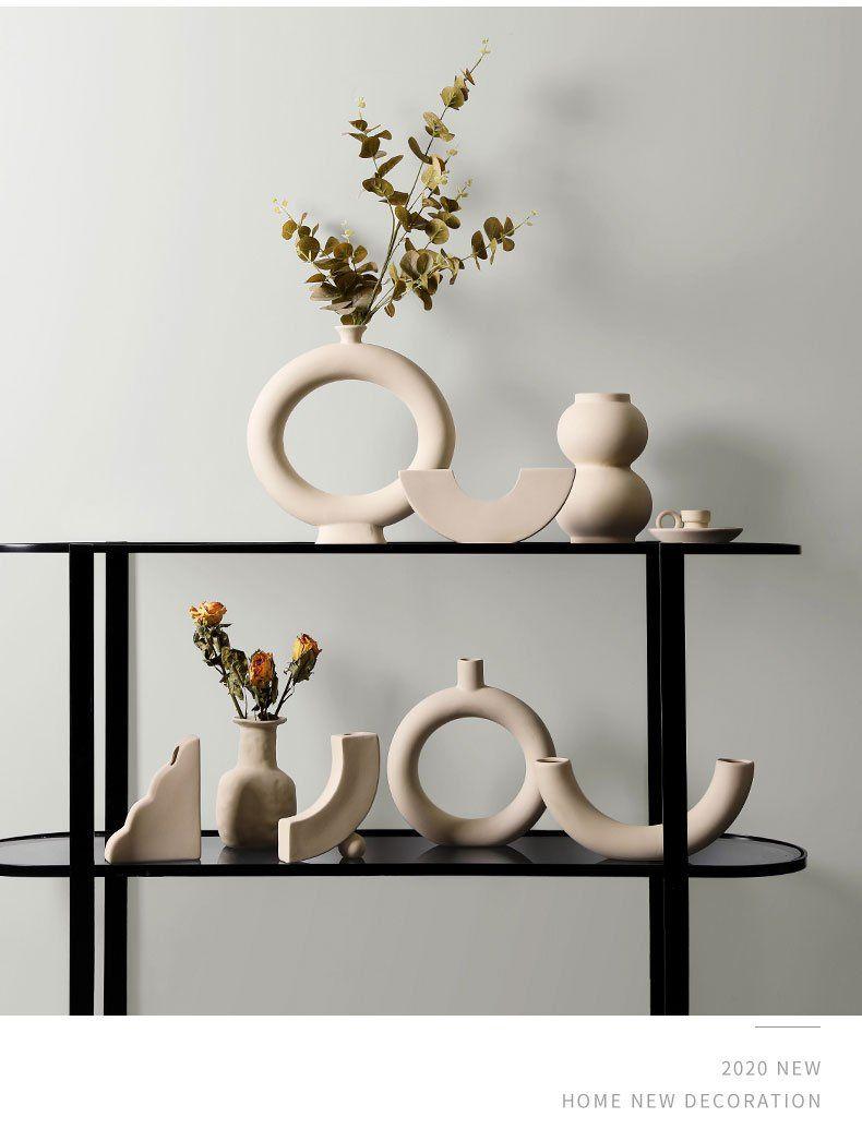 Photo of Triangle Nordic Ceramic Vase