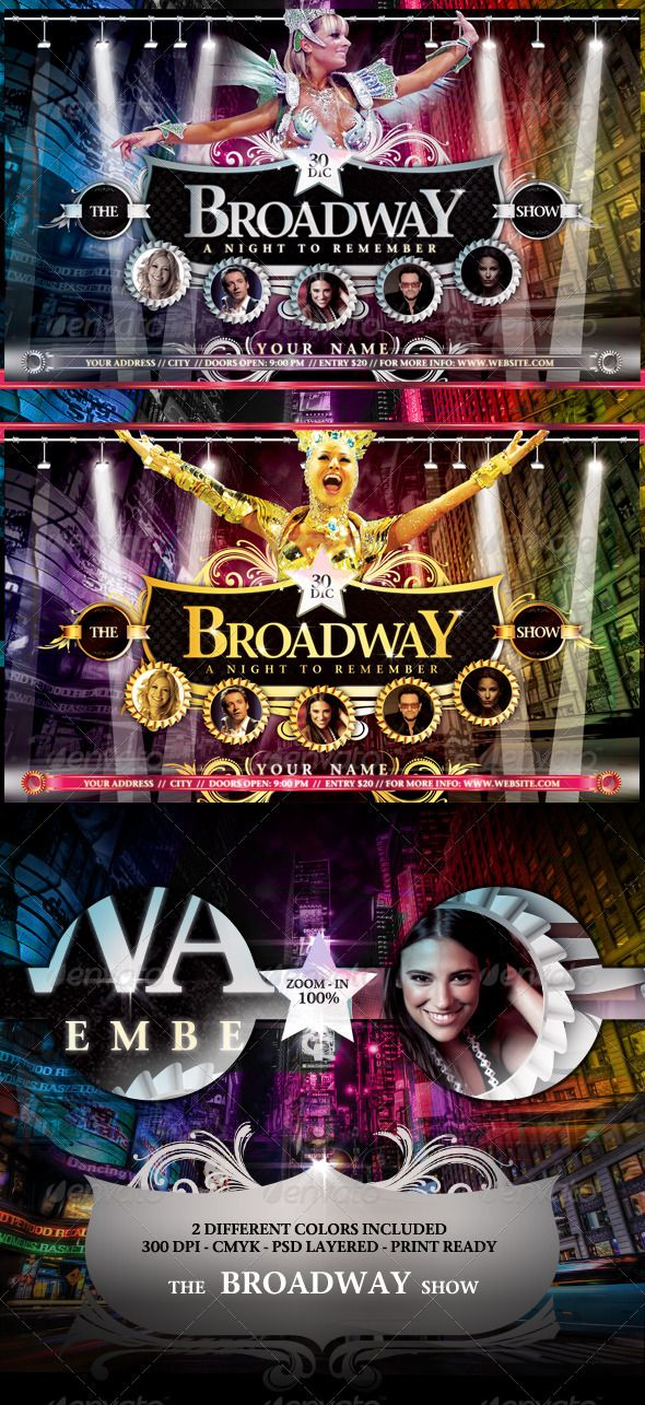 The Broadway Show Flyer Template Flyer Template Template And