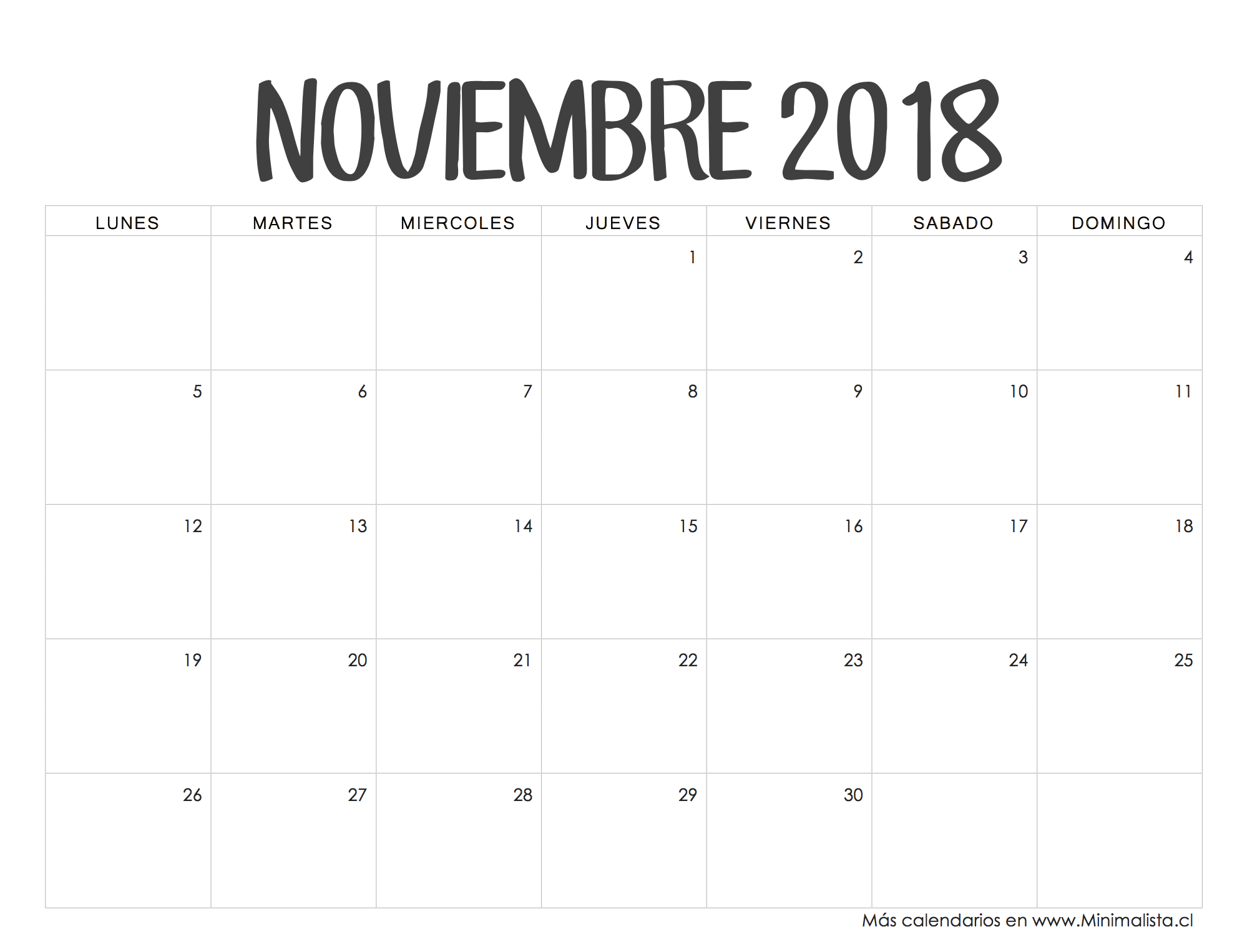 Calendario Escolar Madrid 202018.Calendario Noviembre 2018 A Dibujar Calendario 2018 Para