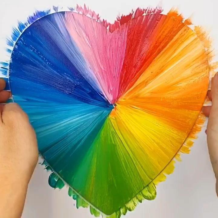 Learn how to make this fun and easy abstract painted heart art project.