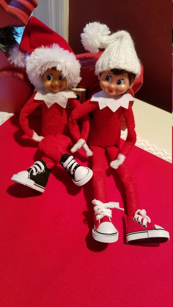 ELF size High-top Sneakers Kicks Costume Clothing Shoes Elf doll Shenanigans Activities Props New clothes