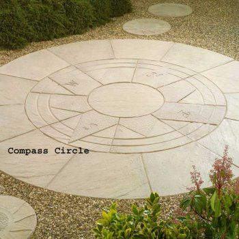 Living Stone Compass Circle Patio Paving Kit