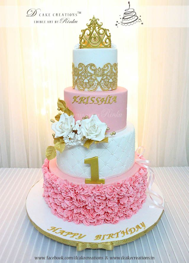 Princess Theme Cake for First Birthday 3D Childrens Cake