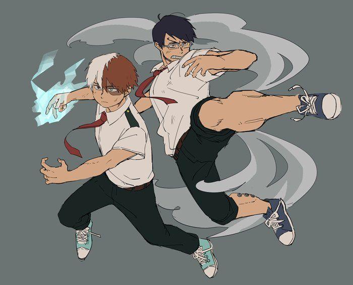 Boku no Hero Academia || Todoroki Shouto, Tenya Iida.