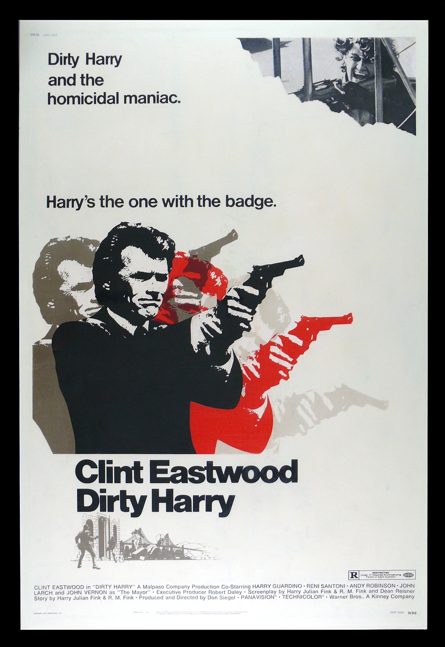 dirty harry cinemasterpieces 40x60 clint eastwood gun