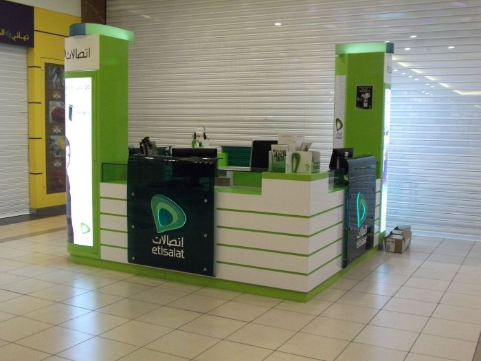 Exhibition Stand Abu Dhabi : Etisalat kiosk abu dhabi khalidya mall exhibition