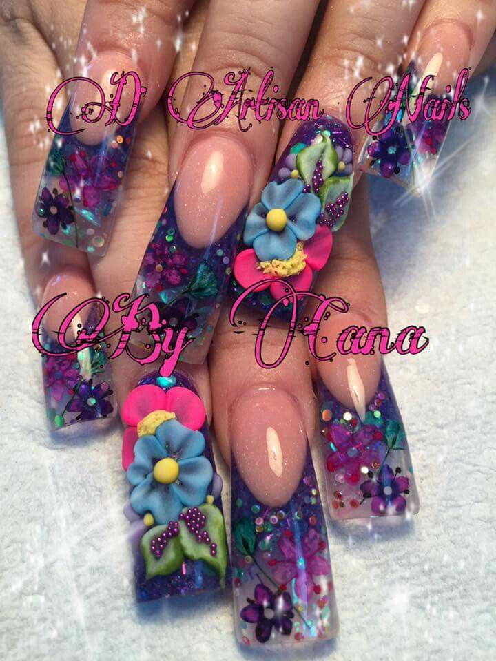 Pin by Juan Mercado on Nails | Pinterest | Long nail art, Wide nails ...