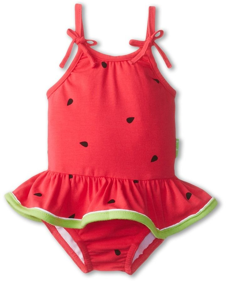 0146fd1c8805d Le Top Watermelon Cutie Skirted Swimsuit (Watermelon Pink) Girl's Jumpsuit  & Rompers One Piece on shopstyle.com