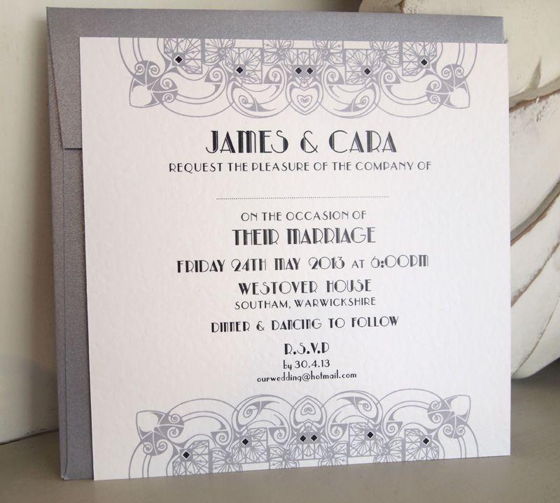 Wedding invitations art deco | Wedding Stationary | Pinterest ...