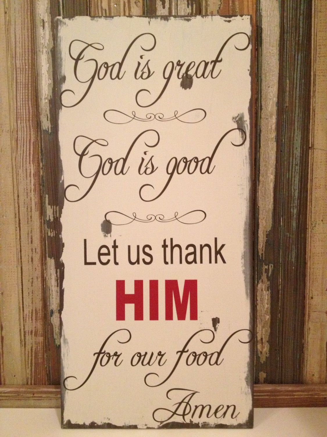 Kitchen decor god is great god is good dining room wall art